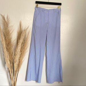 A.L.C Light Blue Slacks Trousers with Stripes Sz 2